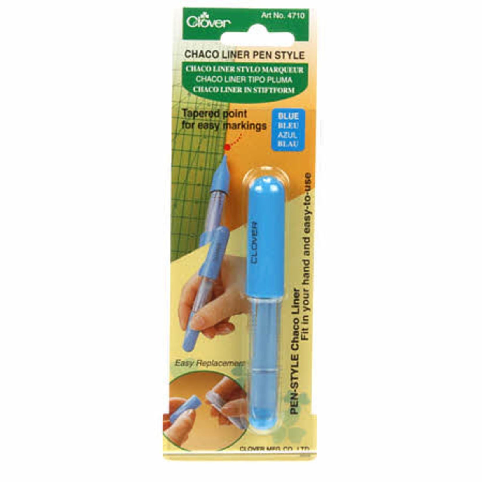 Clover Markeerpen - 4710 - Chaco liner pen style - Krijt - Blauw