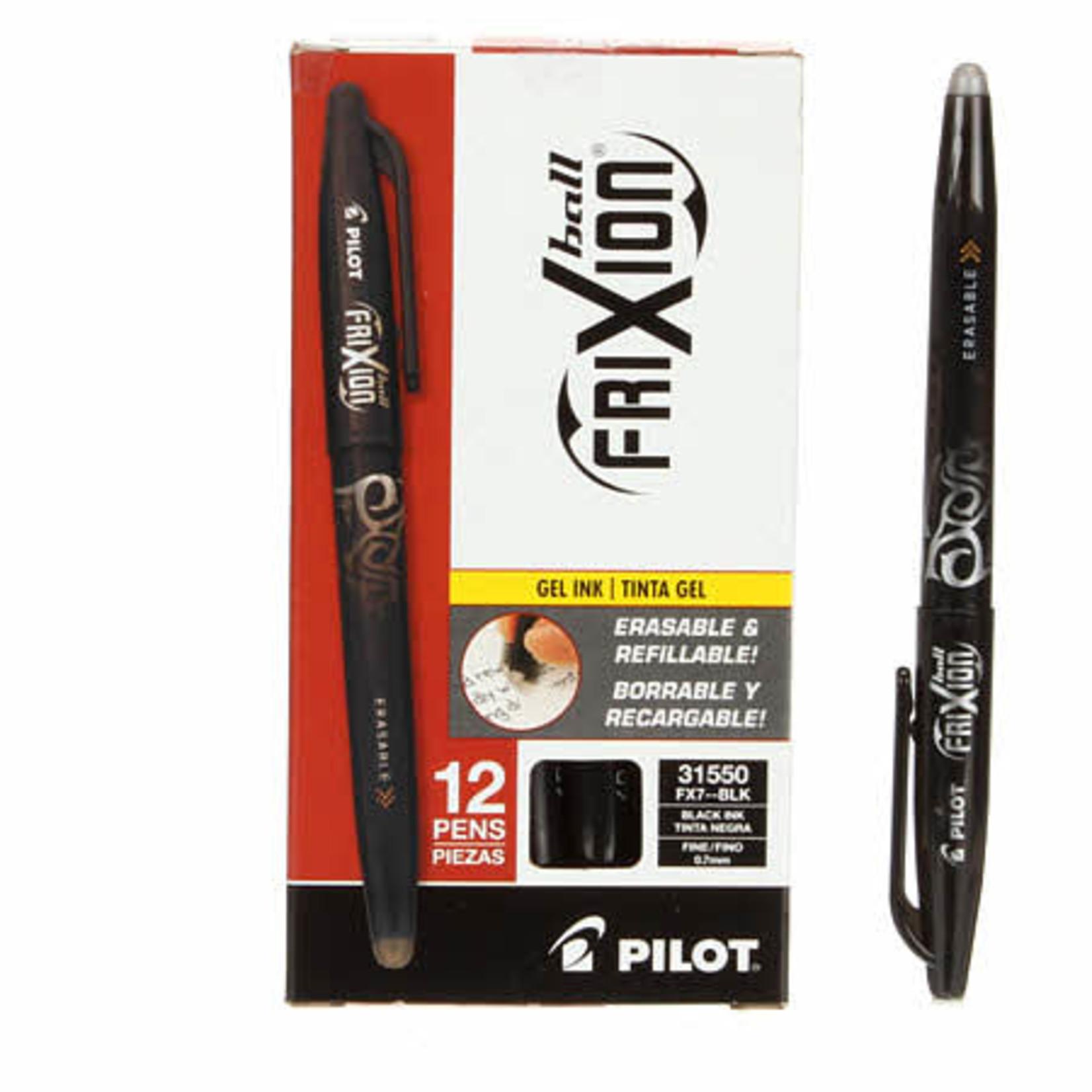 Pilot Markeerpen - Frixion Ball 07 Clip - Verdwijnt met warmte - Zwart
