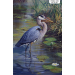 Northcott The Great Blue - Jacaranda - Heron - Panel