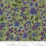 Moda Violet Hill - Floral - Celery