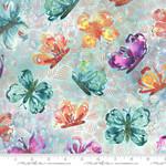 Moda Fabrics Sunshine Soul - All Aflutter Butterflies - Cool Breeze
