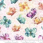 Moda Fabrics Sunshine Soul - All Aflutter Butterflies - Sunset