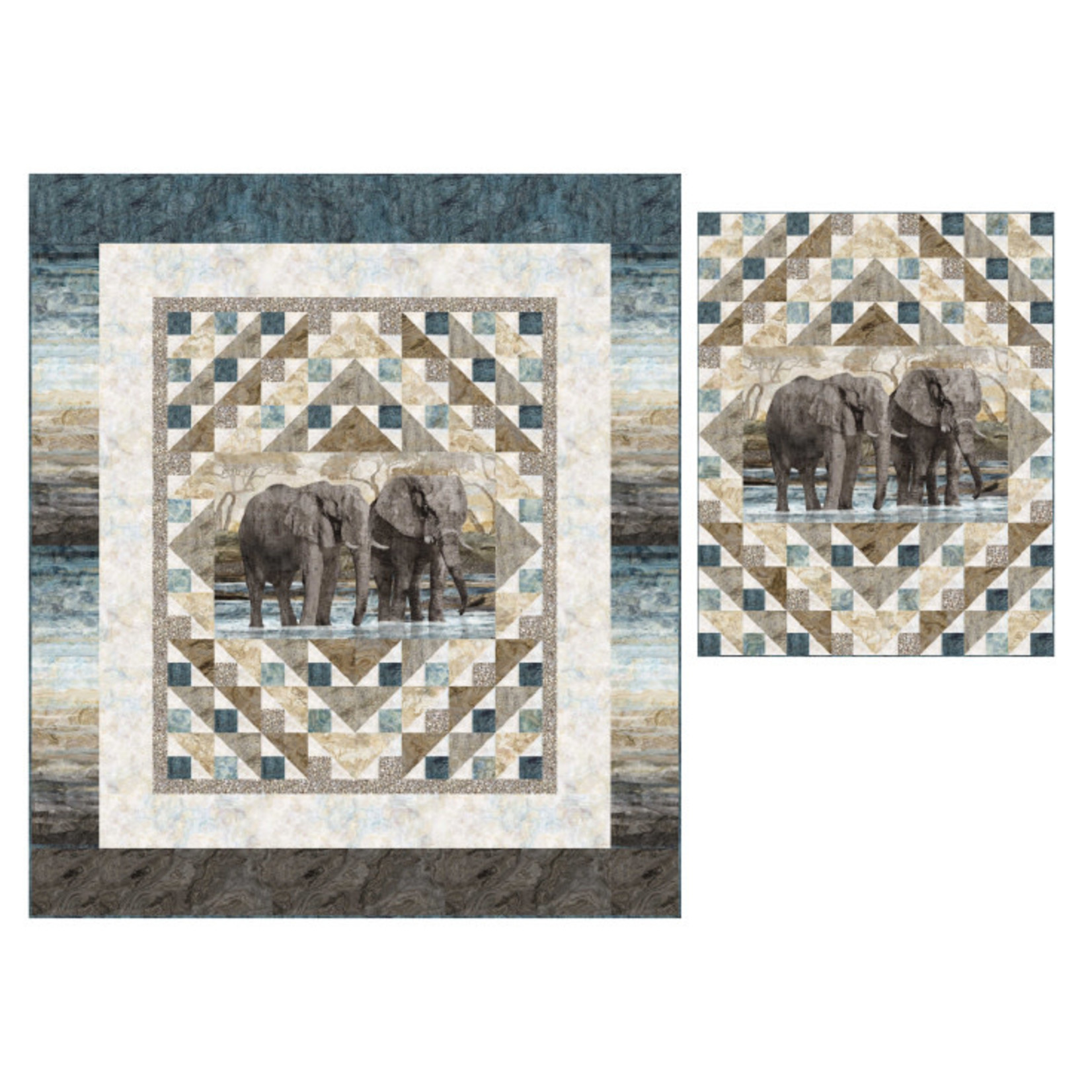 Northcott New Dawn - Elephant