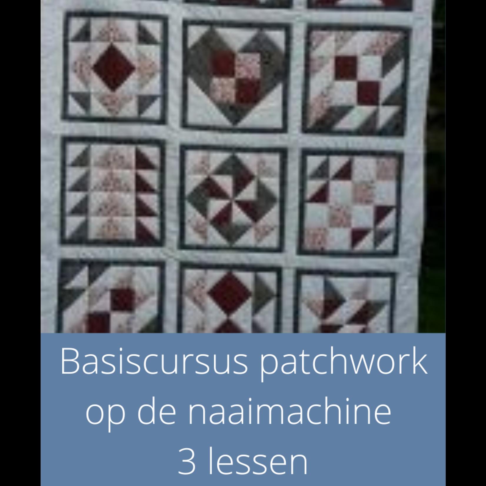 Cursus -Basiscursus patchwork op de naaimachine|3 lessen start 21 sept