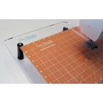 Sew Steady Glijmat - Grid Glider - 11 inch x 14 inch - Oranje