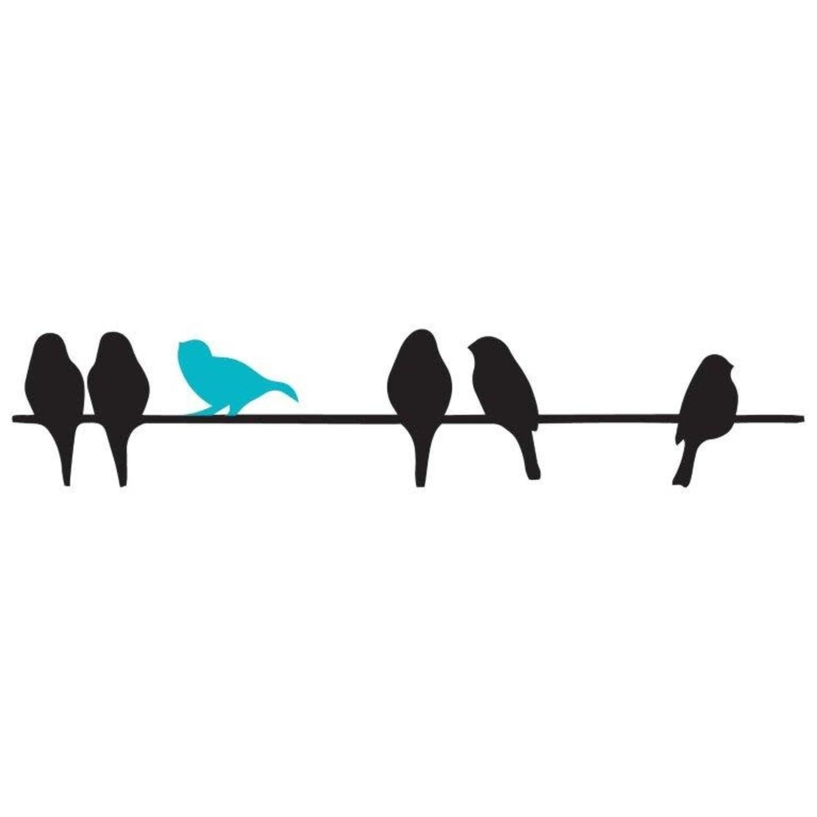Quilting creations Applicatie - Vogels op tak - Blauw rood