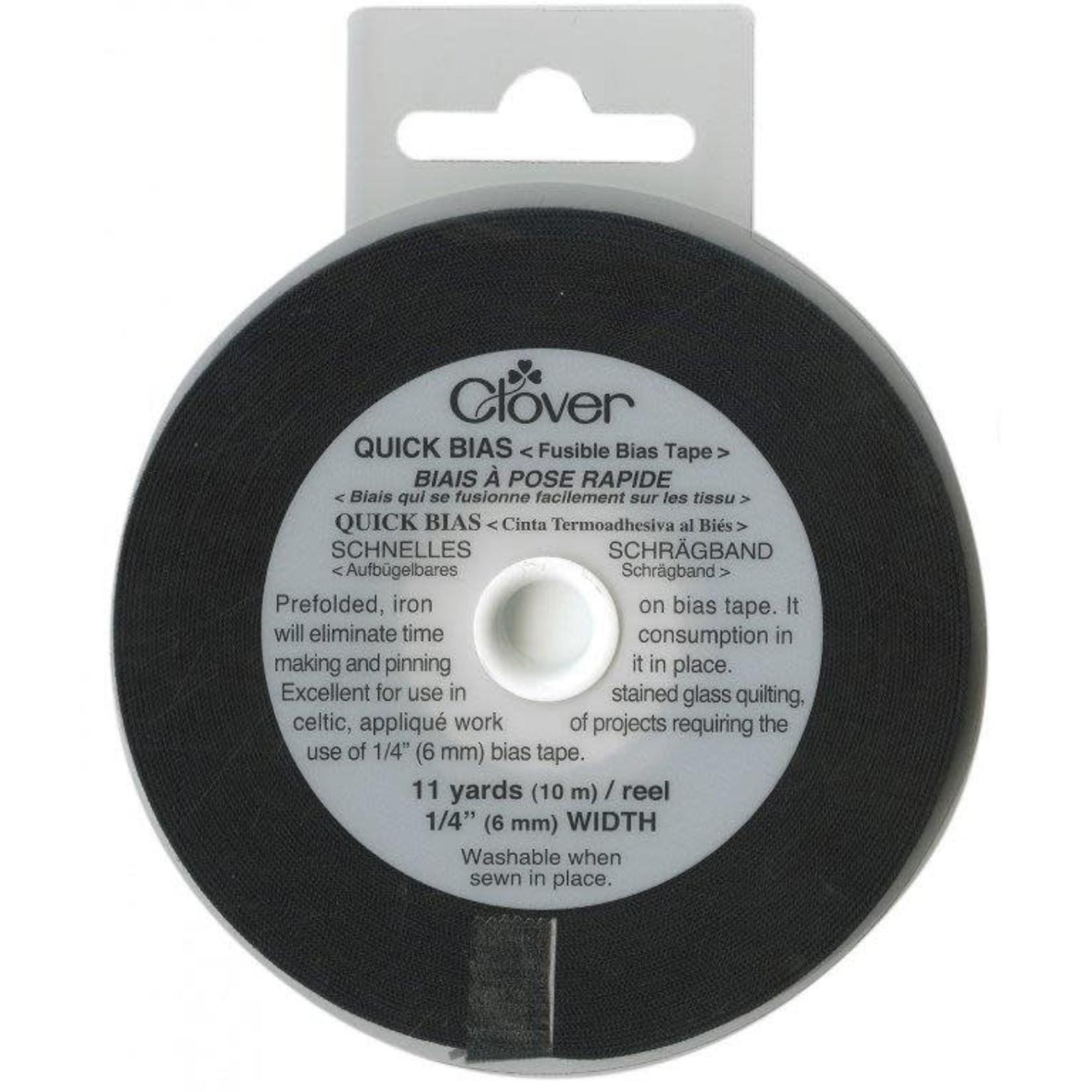 Clover Biaisband - Quick Biais -Plakbaar - 6 mm x 10 m - Zwart