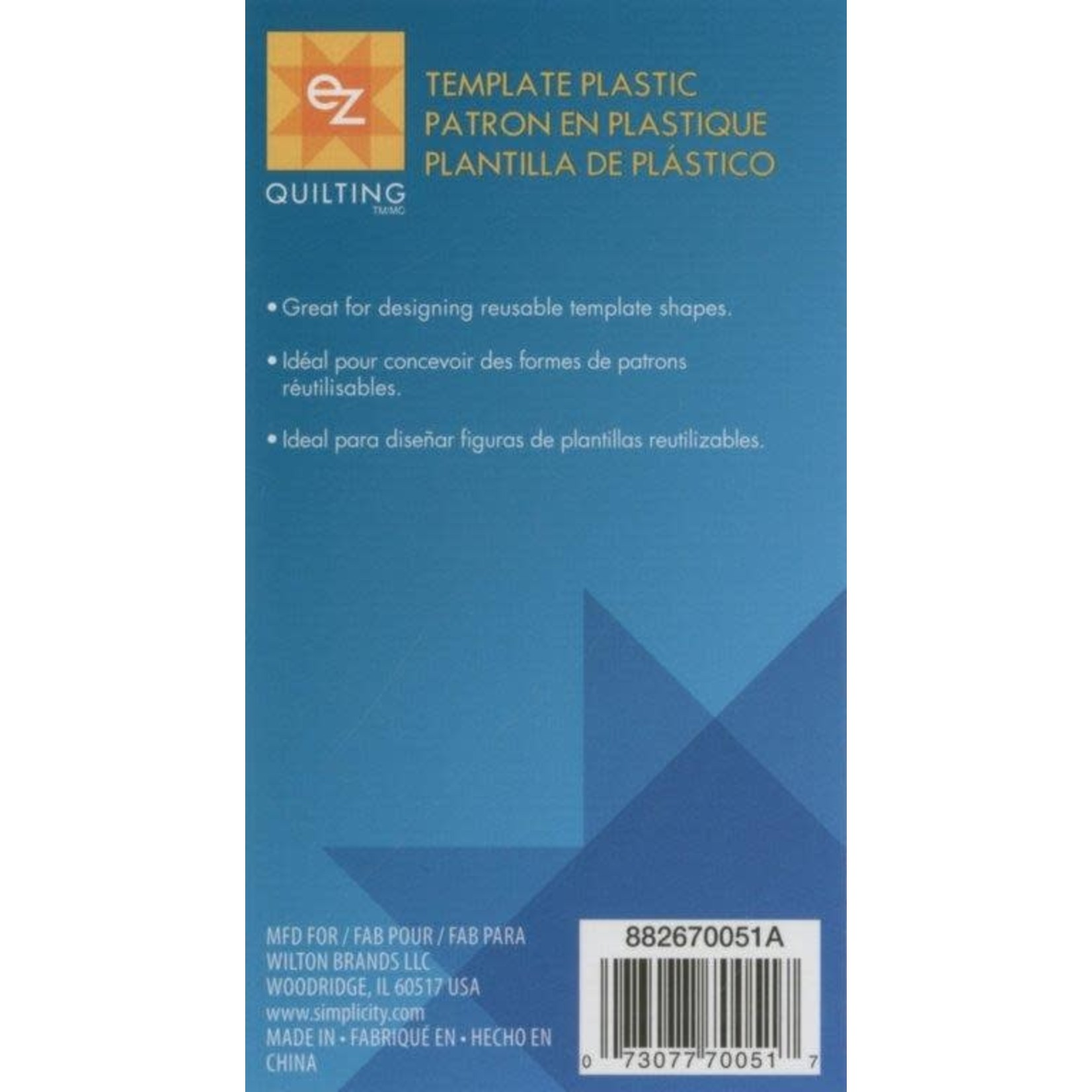 EZ Quilting Paternoplaat - Template Plastic Sheet - 30 cm x 45 cm