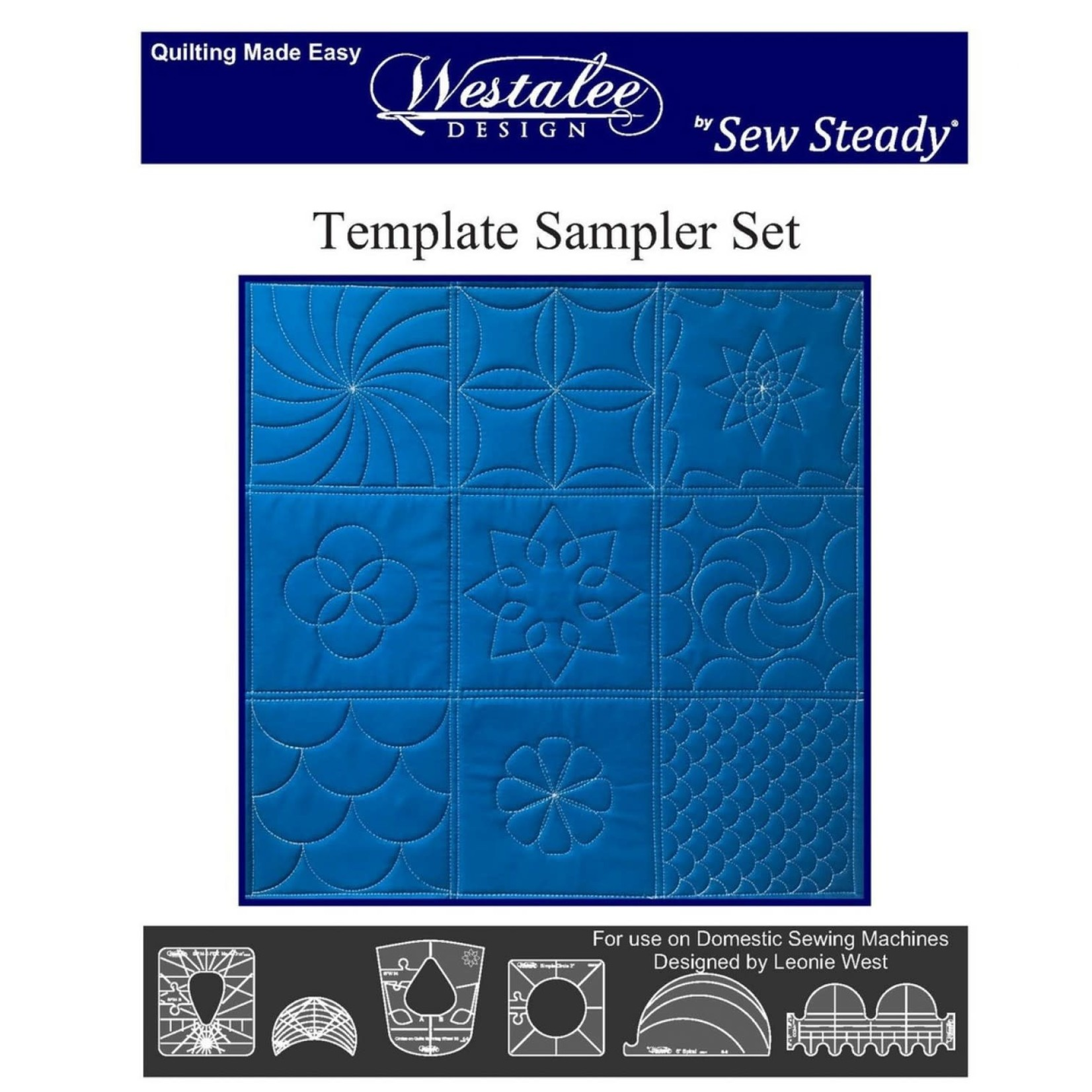 Sew Steady Quiltliniaal - Template Sampler Set - Low Shank