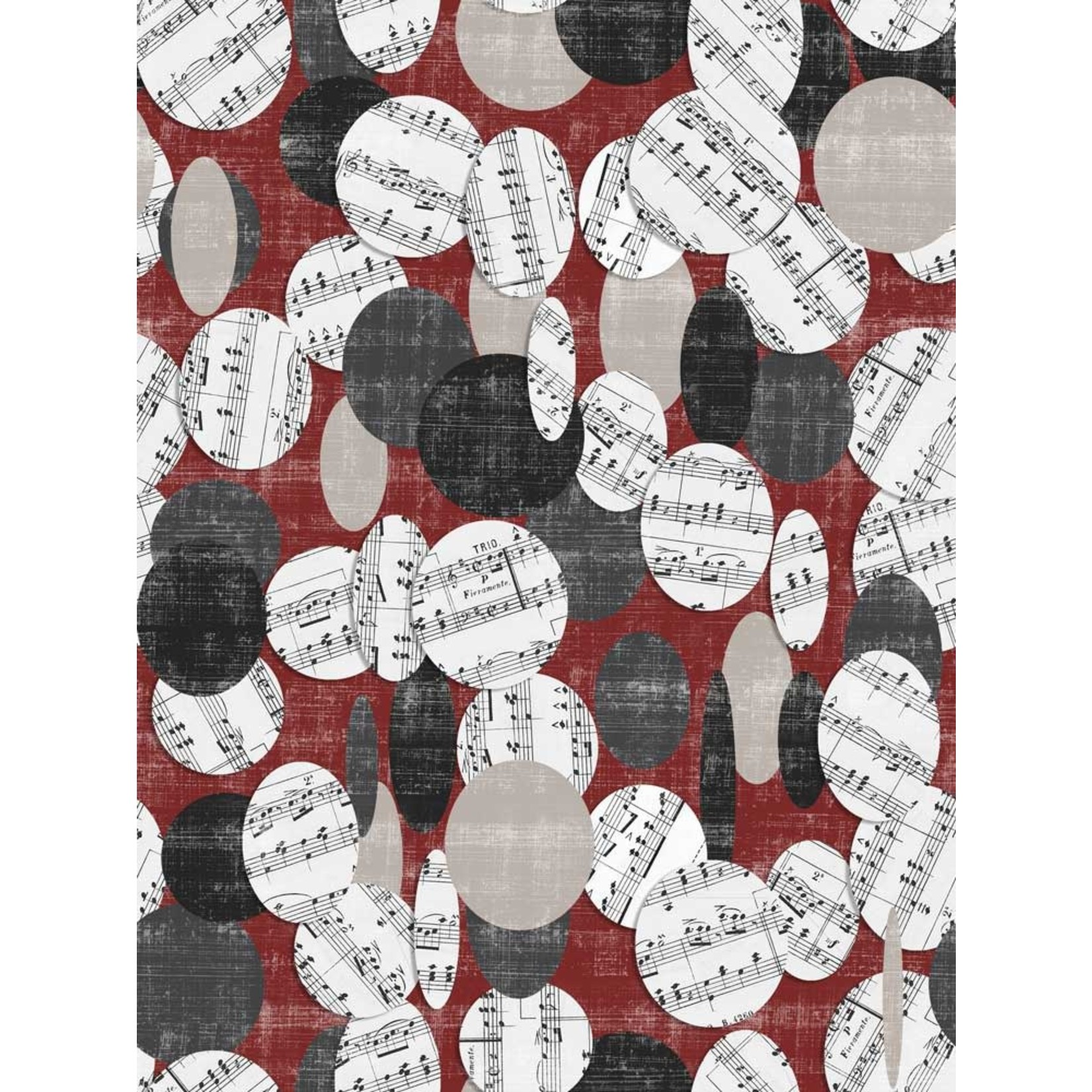 Blank Quilting Let The Music Play - Circles With Notes