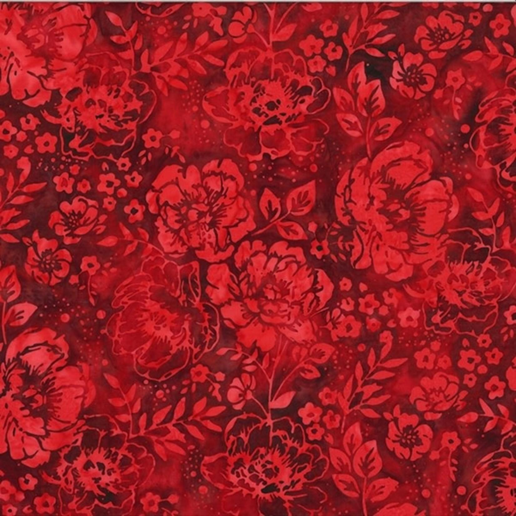 Hoffman Fabrics Bali Handpaints - Red