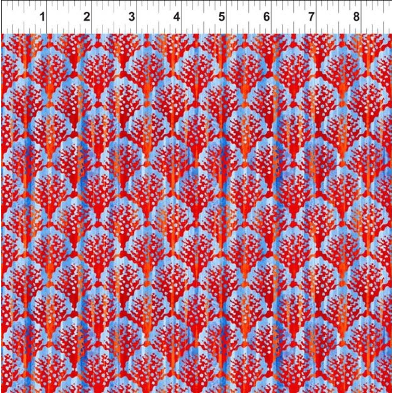 In the Beginning Fabrics Calypso - Scallop - Blue