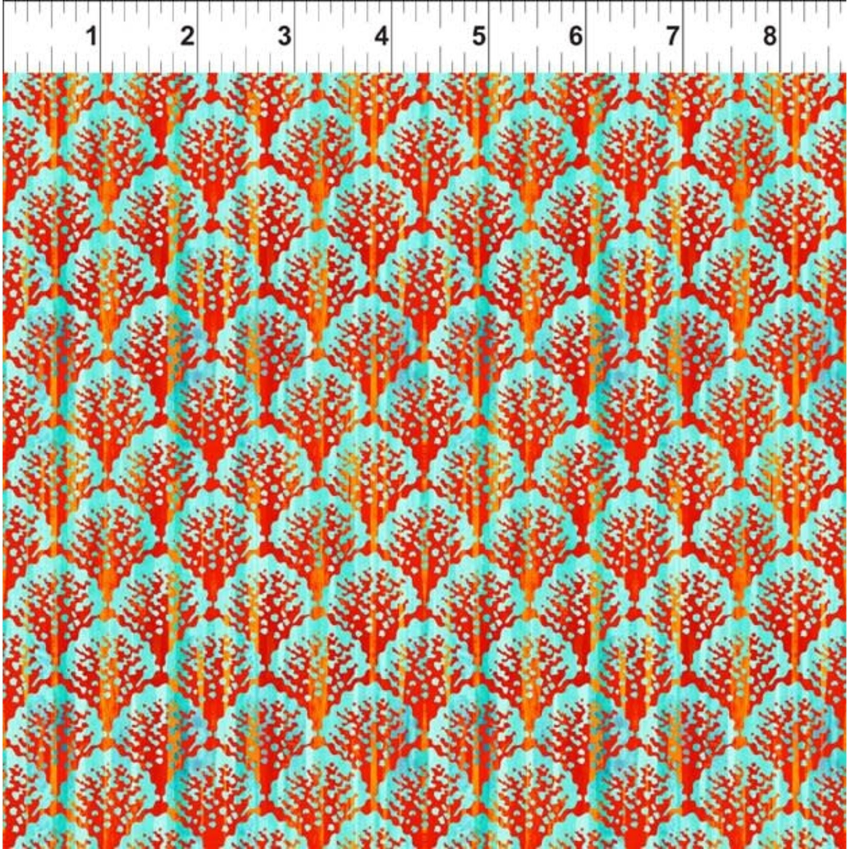 In the Beginning Fabrics Calypso - Scallop - Teal