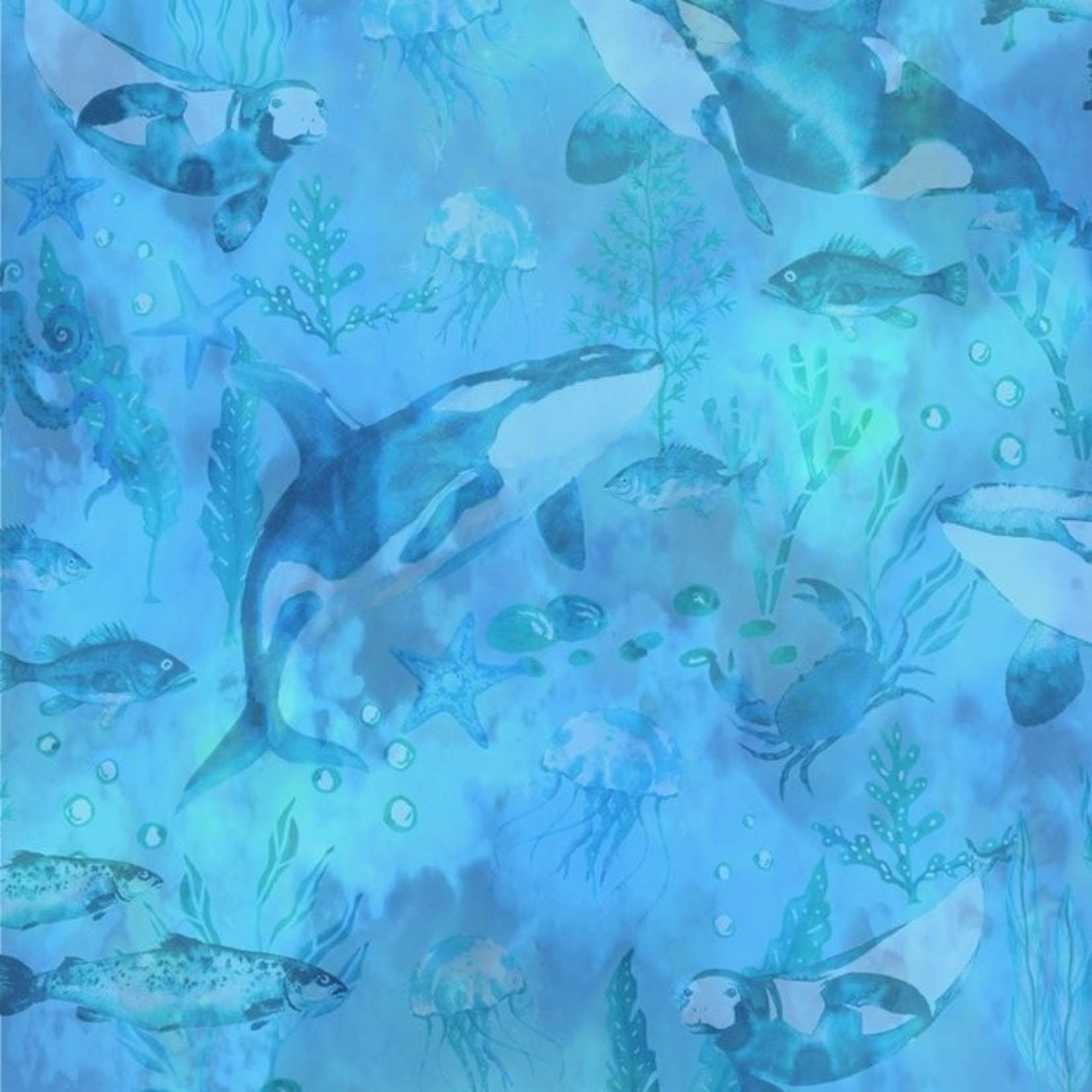 In the Beginning Fabrics Calypso - Undersea Tonal - Blue