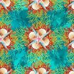 In the Beginning Fabrics Calypso -Shells - Teal