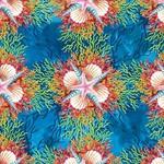 In the Beginning Fabrics Calypso -Shells - Blue
