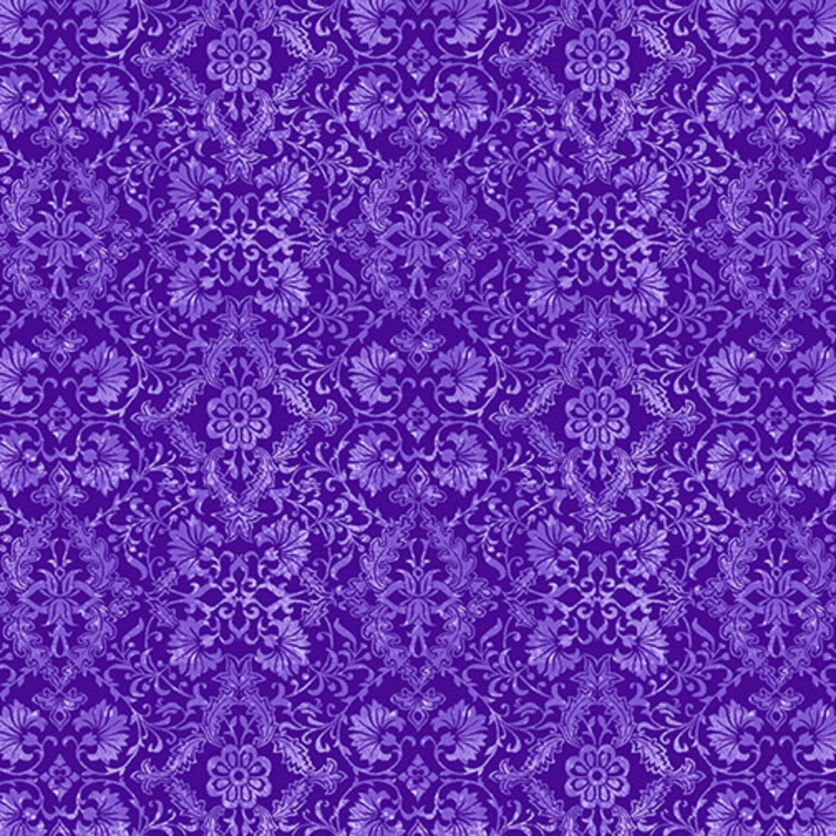 Benartex Studio Lavender Fields - Veronica Damask - Dark Purple