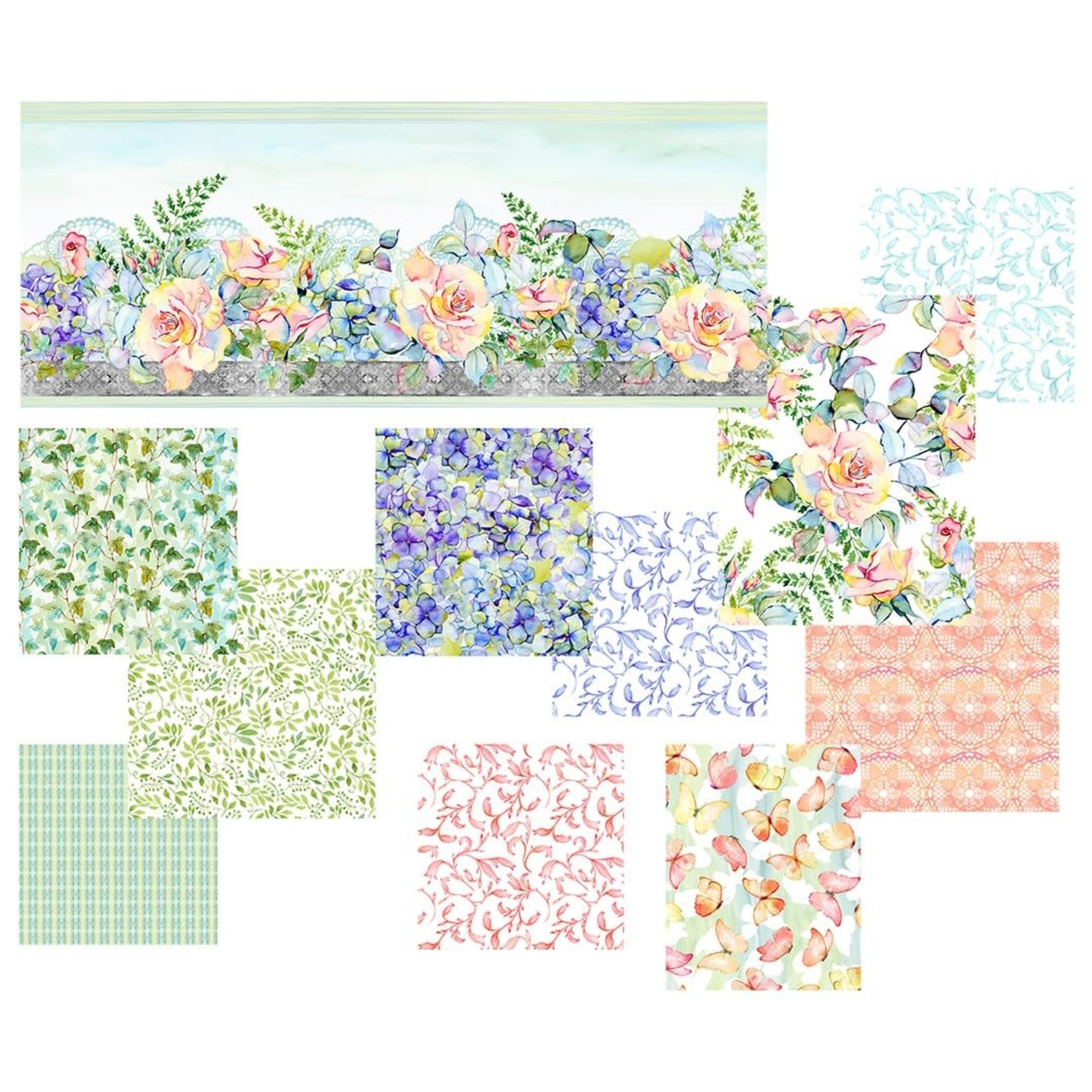 In the Beginning Fabrics The Patricia Collection - Butterflies - Soft Multi