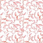 In the Beginning Fabrics The Patricia Collection - Sprigs - Coral