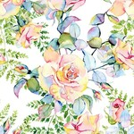 In the Beginning Fabrics The Patricia Collection - Large Roses - Soft Multi