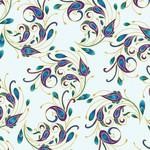 Benartex Studio Peacock Flourish - Geplastifiseerd - Spin it teal multi - Van de  rol(per 10cm) 110cm breed