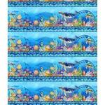 In the Beginning Fabrics Calypso - Border Stripe - Blue