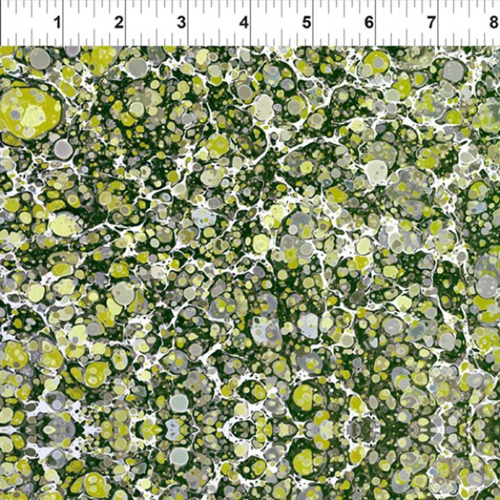 In the Beginning Fabrics Marble Essence - Napoli - Grass