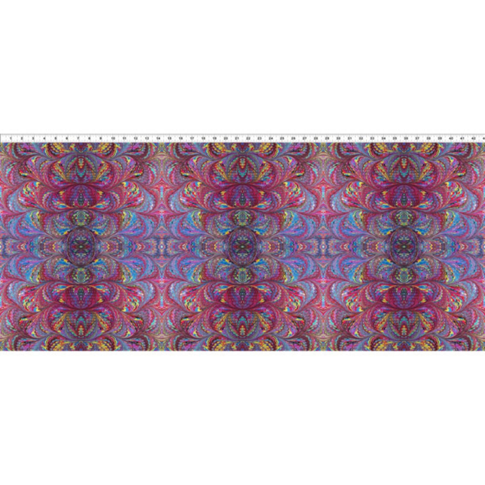 In the Beginning Fabrics Marble Essence - Roma - Multi