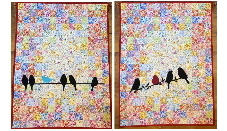 Watercolor quiltje