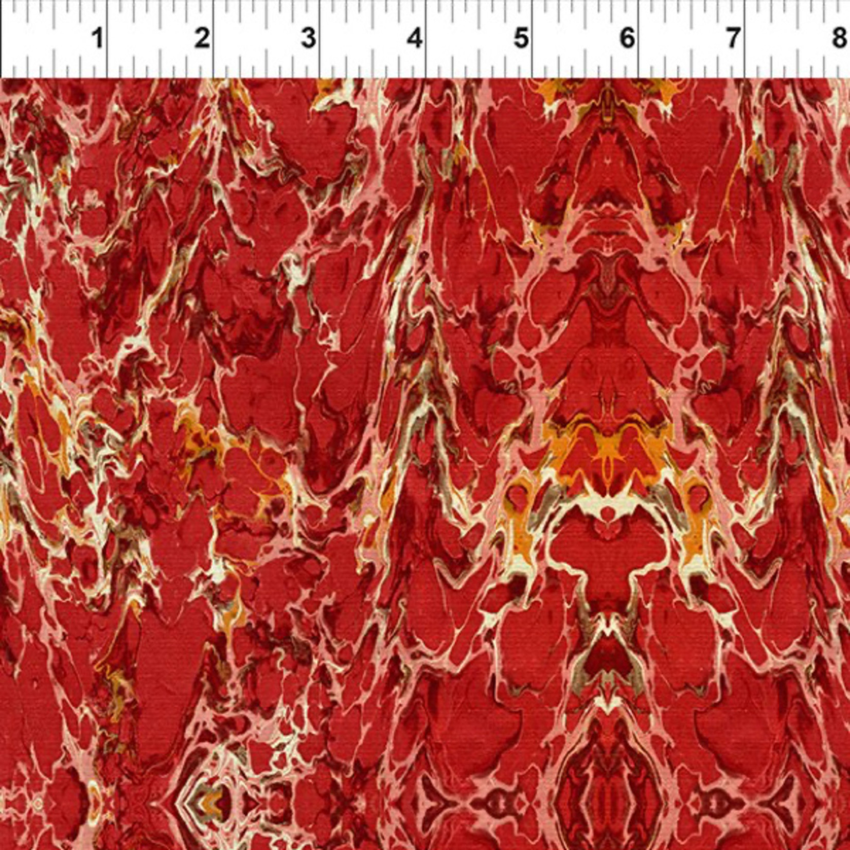 In the Beginning Fabrics Marble Essence - Aprilia - Red