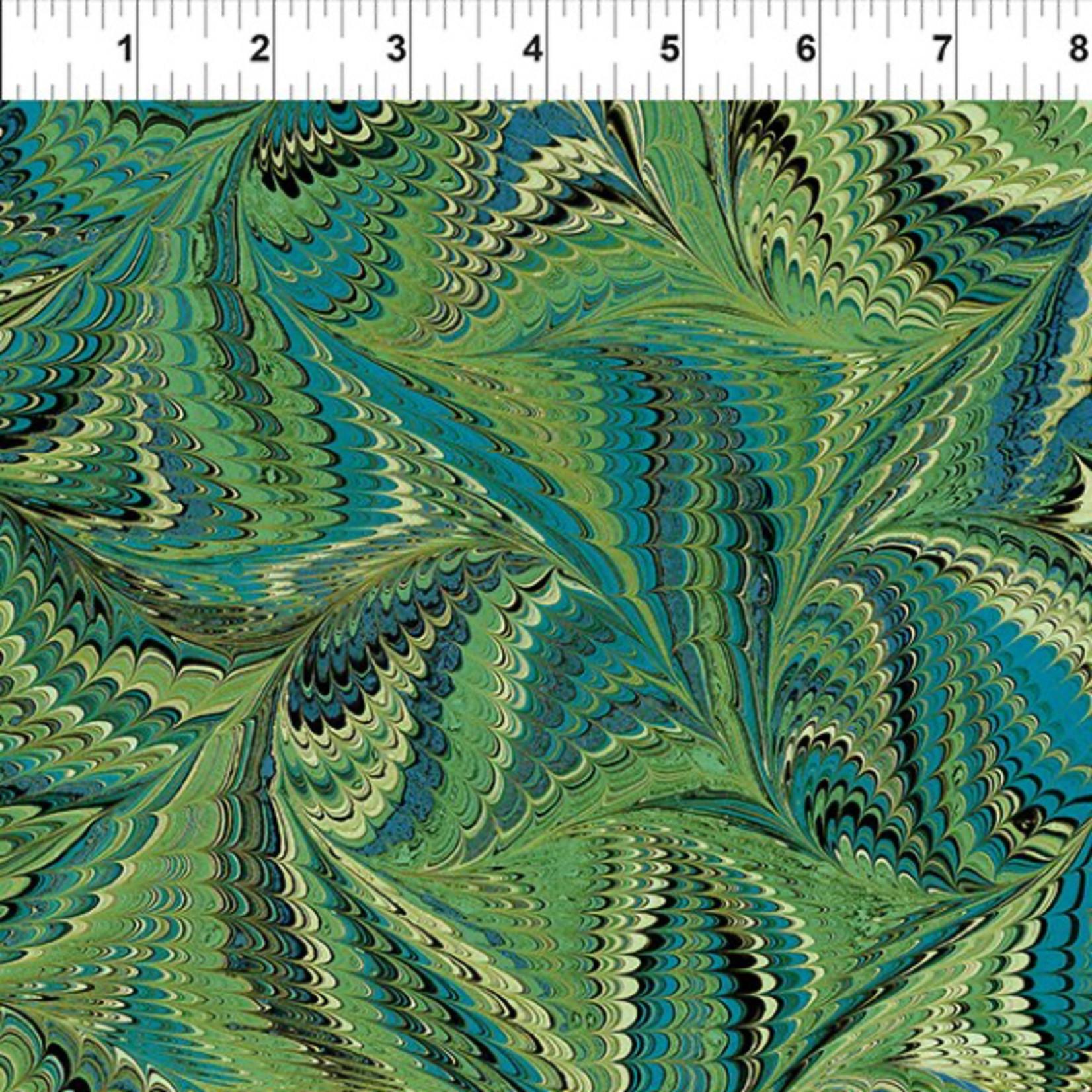 In the Beginning Fabrics Marble Essence - Genova - Green