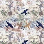 Windham Fabrics Discover - Travel Map - Ivory