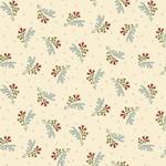 Henry Glass Fabrics Tarrytown - Floral - Cream