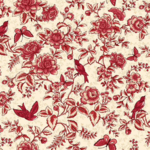 Henry Glass Fabrics Tarrytown - Floral Toile - Red