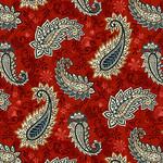 Studio E Fabrics Le Poulet - Paisley - Red