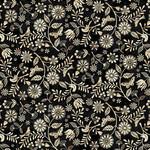 Studio E Fabrics Le Poulet - Small Wildflower Allover - Black