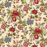 Henry Glass Fabrics Tarrytown - Main Floral - Cream