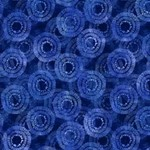 Wilmington Prints Circle Burst - Blauw