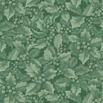 Benartex Winter Elegance - Holly & Berries - Medium Green