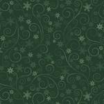 Benartex Winter Elegance - Swirling Frost - Green