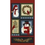 Benartex Studio A Very Wooly Winter - Panel - Multi - 60 cm x 110 cm