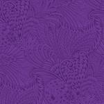 Benartex Peacock Florish - Opulence Tonal - Dark Purple