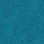 Benartex Peacock Florish - Opulence Tonal - Dark Teal