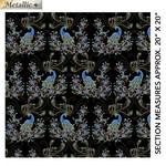 Benartex Studio Peacock Flourish - Double Exposure - Black