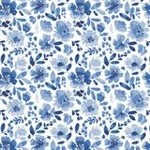 Camelot Fabrics Classic - Blue - Floral