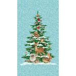 Studio E Fabrics Winterwood - Christmas Tree - Panel -Ice - Blue