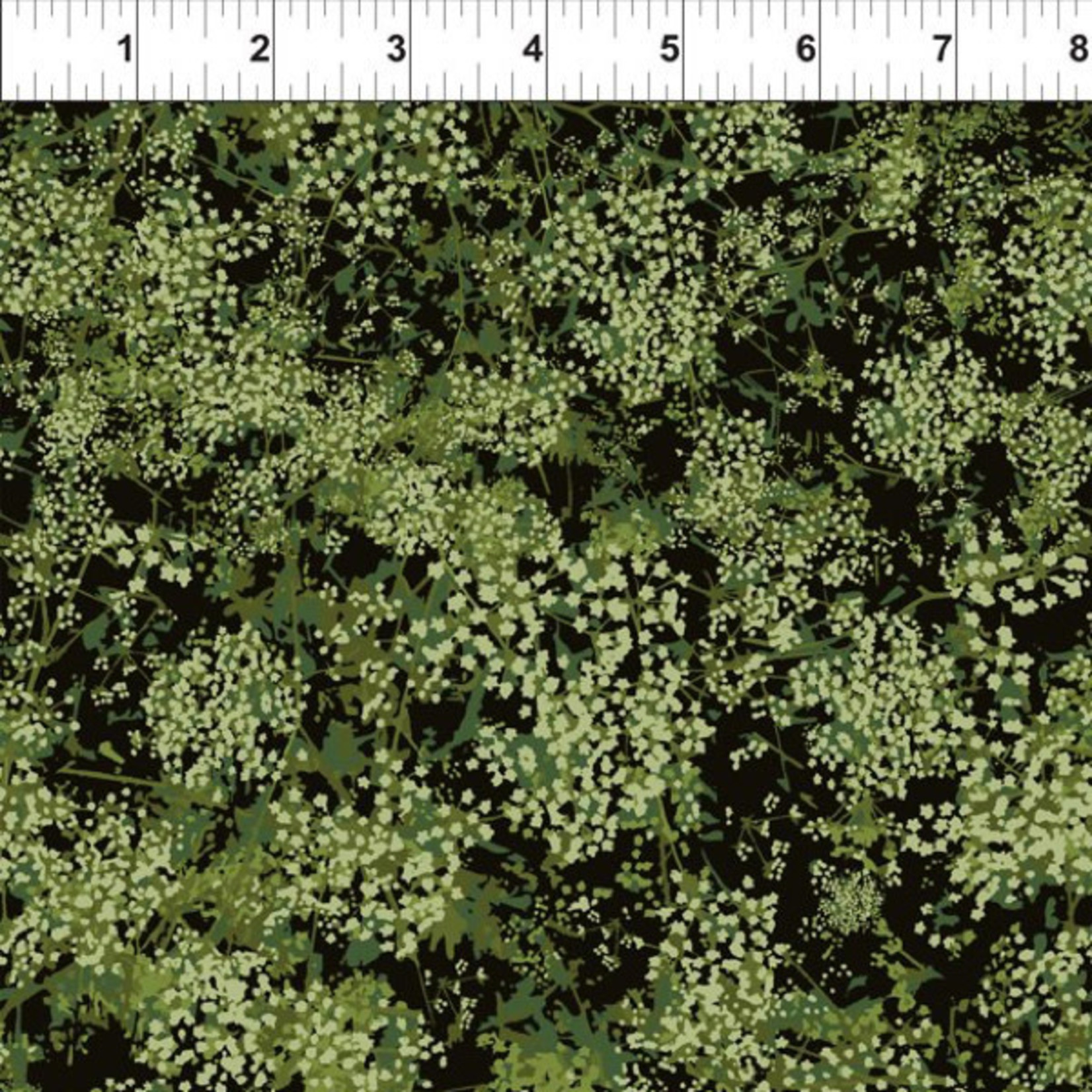 In the Beginning Fabrics Garden Delights - Baby Breath's - Green