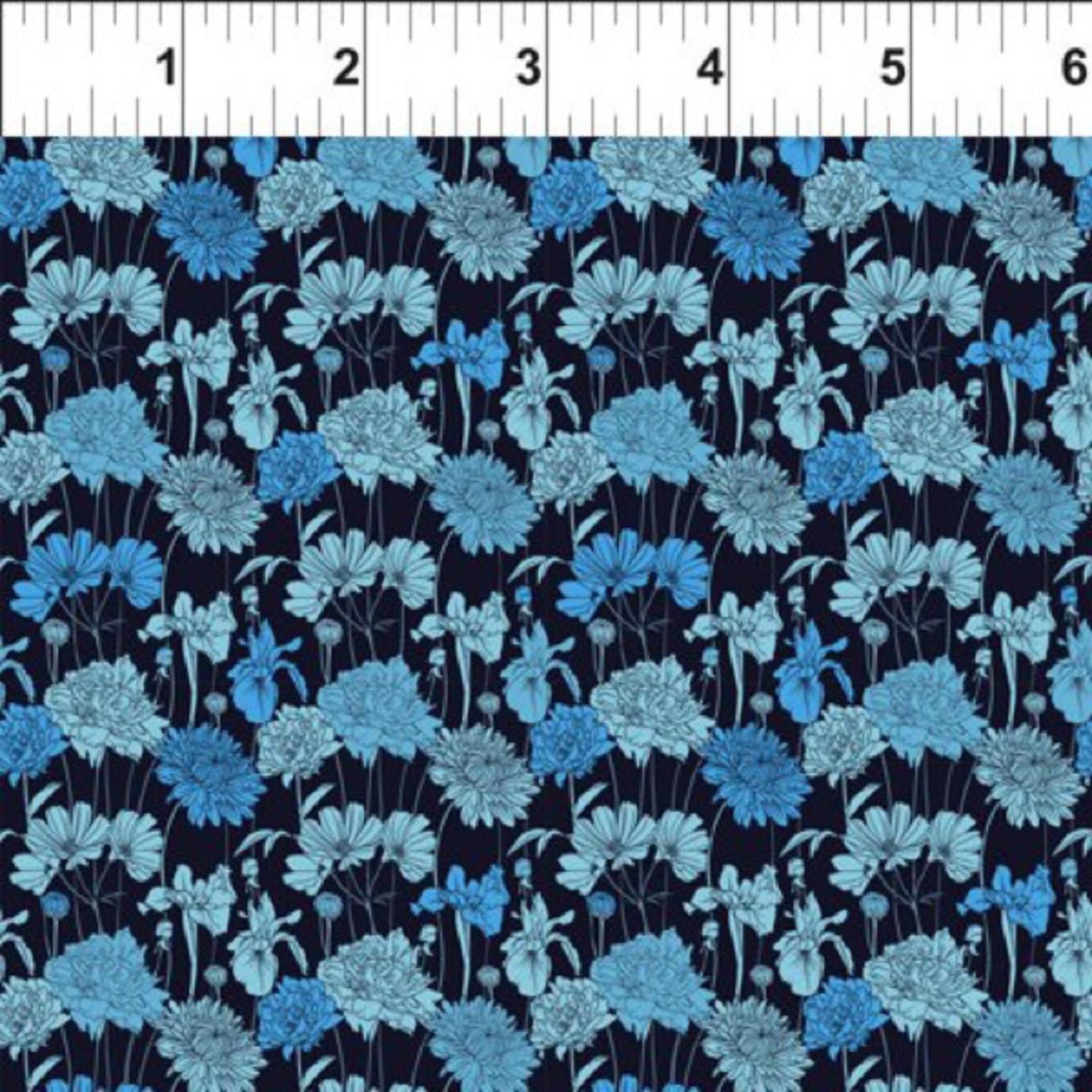 In the Beginning Fabrics Garden Delights - Bouquet - Blue
