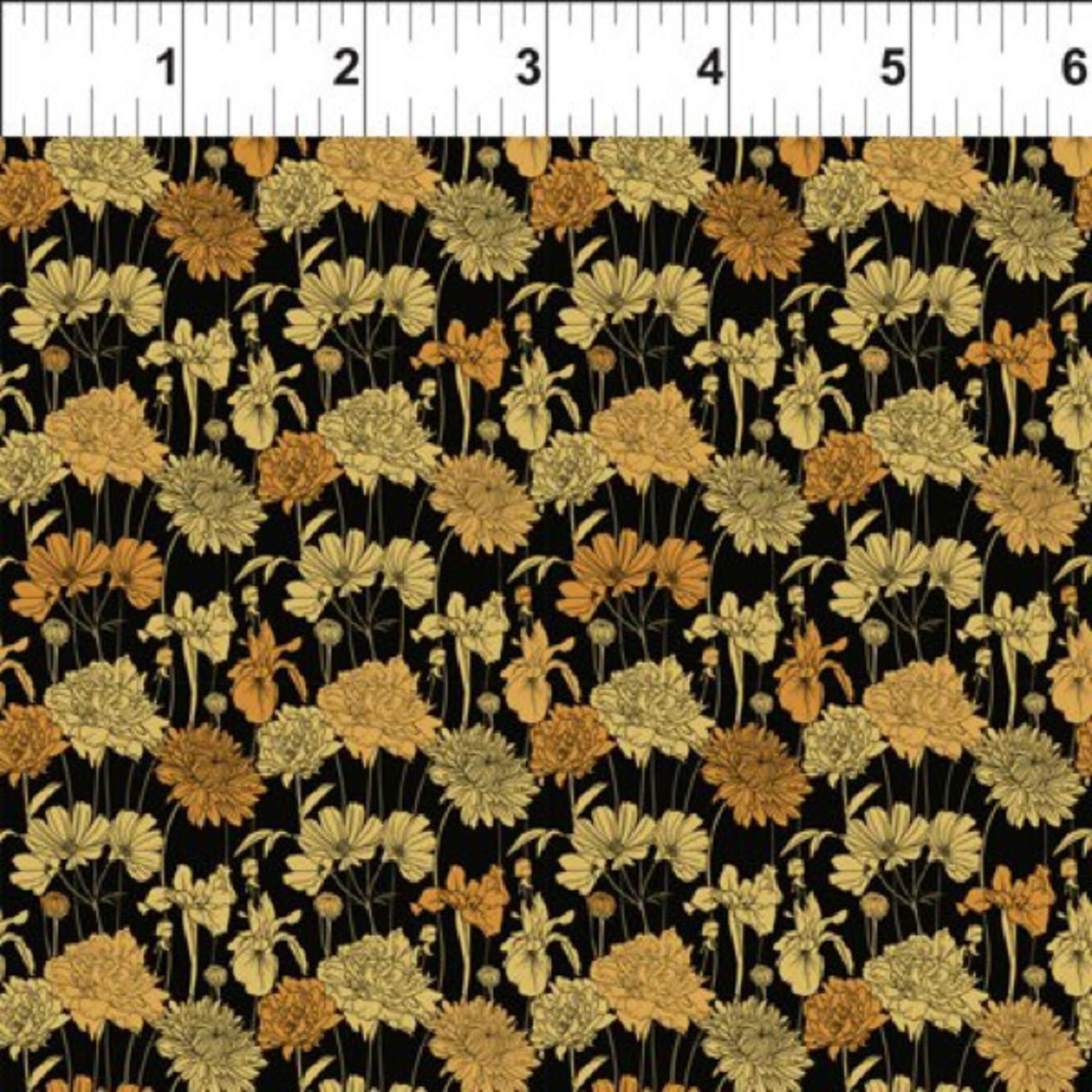 In the Beginning Fabrics Garden Delights - Bouquet - Gold