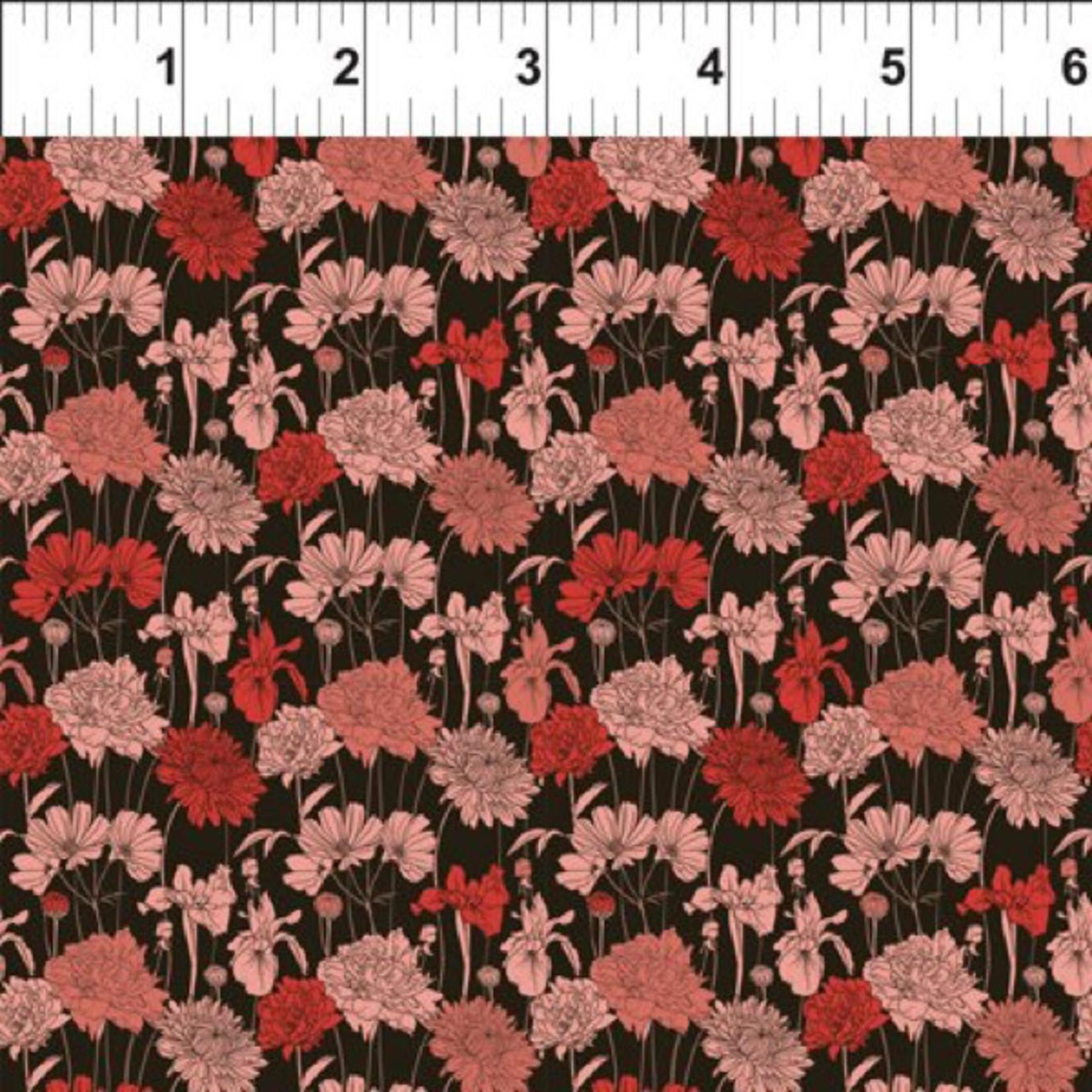 In the Beginning Fabrics Garden Delights - Bouquet - Red